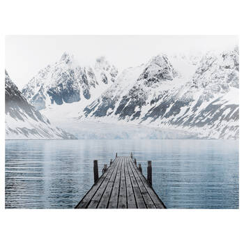 Dock on Mountain Printed Canvas