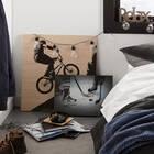 Art mural en bois BMX