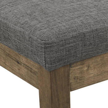 Fabric and Wood Bench