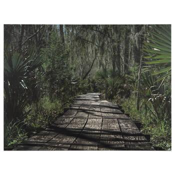 Path Through The Jungle Printed Canvas