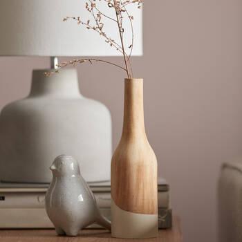 Vase en bois naturel