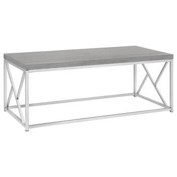 Table basse en métal et en placage