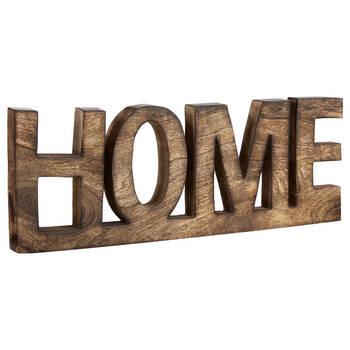 Mot décoratif Home en bois