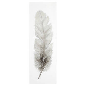 Feather Oil Painted Canvas