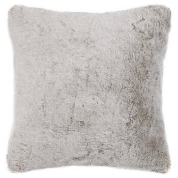 "Silver Fox Faux Fur Decorative Pillow 20"" x 20"""