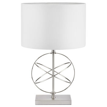 Geometric Metal and Fabric Table Lamp