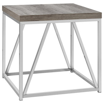 Table dappoint en métal et en bois plaqué