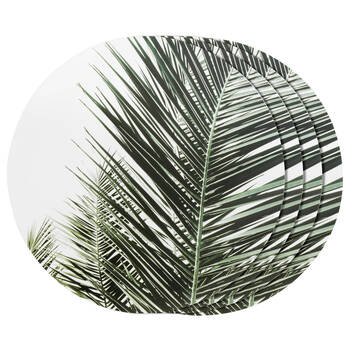 Set of 4 Palm Leaves Placemats