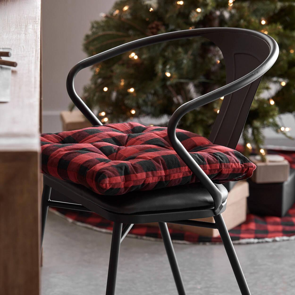 Buffalo Plaid Chair Pad
