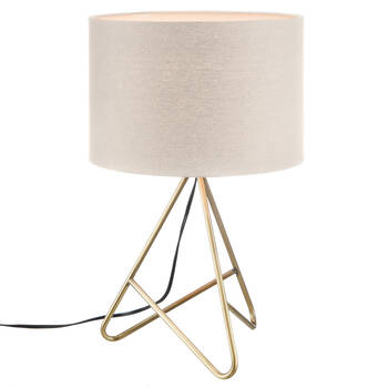 Table Lamp with Gold Metal Base
