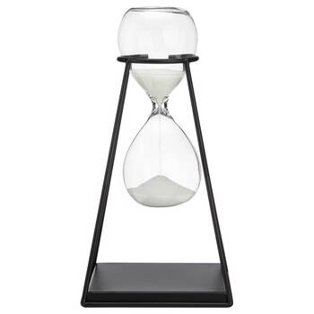 Decorative Metal & Glass Hourglass
