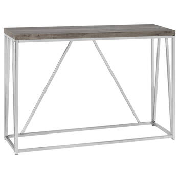 Laminated Wood and Chrome Console Table