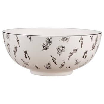 Bol en porcelaine avec motifs d'herbes
