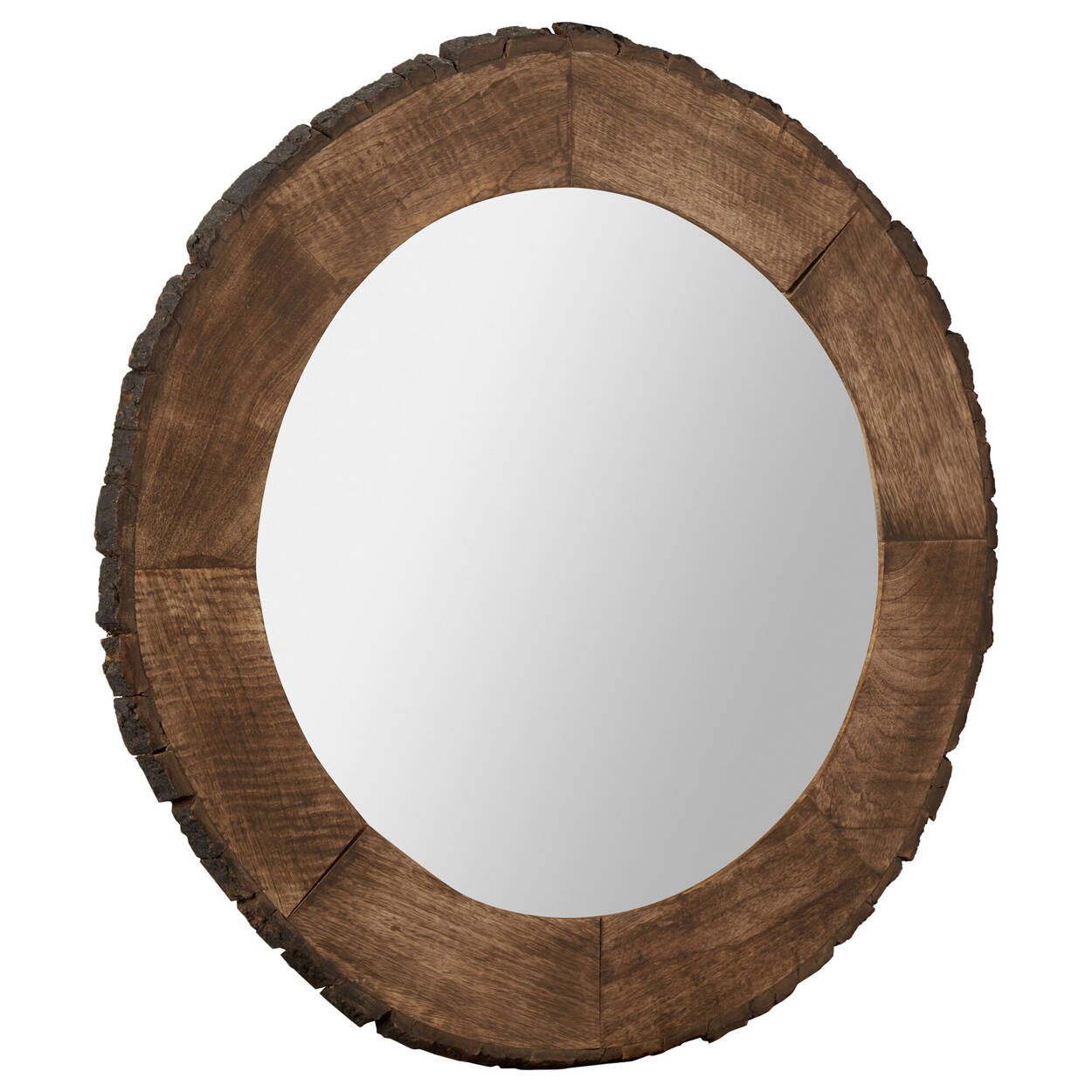 Live Edge Round Wood Mirror