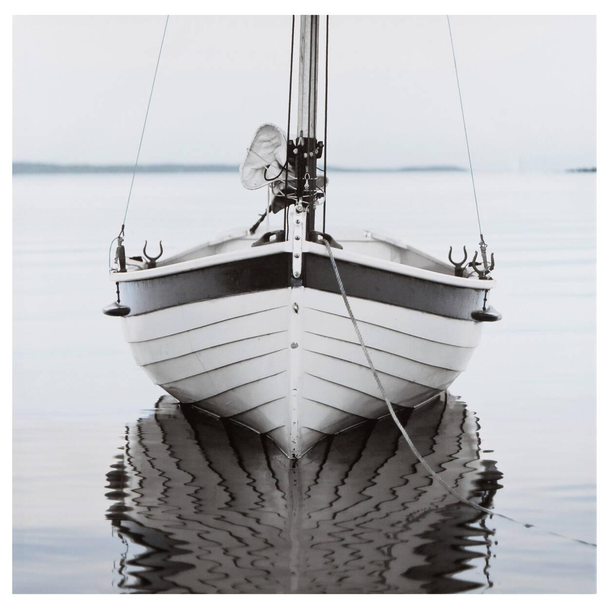 Tableau imprimé d'un bateau en gros plan
