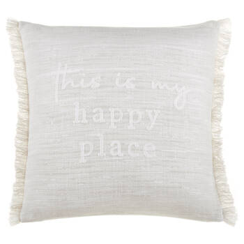 "Amina English Typography Decorative Pillow 19"" x 19"""