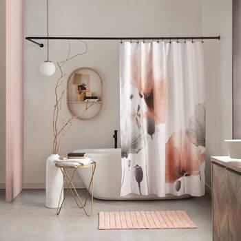 Blush Poppy Shower Curtain