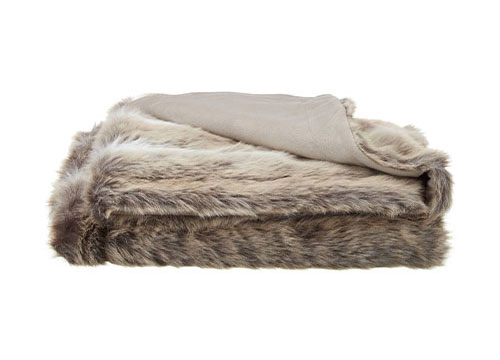 deer faux fur throw