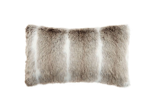 deer faux fur pillow